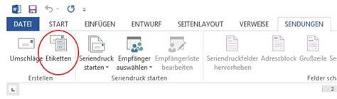 Microsoft Excel Etiketten Drucken by Adressetiketten Drucken Mit Microsoft Word Und Excel So