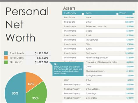 Excel Net Worth Template net worth statement template microsoft excel templates
