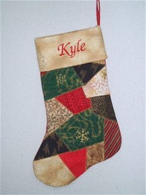 pattern for crazy quilt christmas stocking crazy cuffed christmas stocking favequilts com