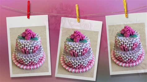 3d origami cupcake tutorial how to make 3d origami cake cake tutorial priti