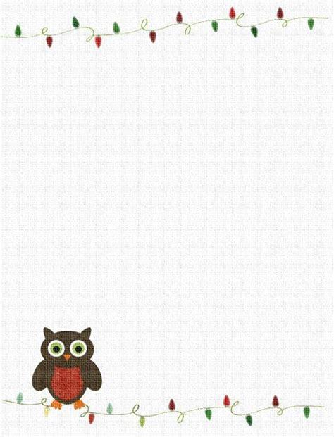 printable owl border paper 487 free christmas borders you can download and print