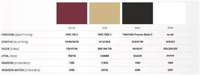 color code for white florida state seminoles official pantone color