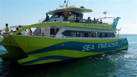 glass bottom boat menorca glass bottom catamaran mallorca youtube
