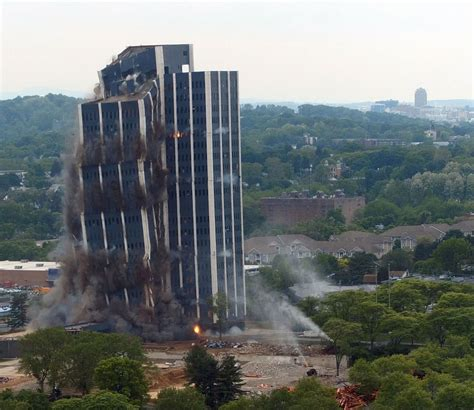 martin tower implosion   morning call