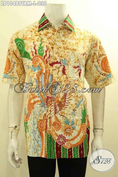 Kemeja Batik Mza03 Lengan Pendek Modern Halus Murah Grosir sedia kemeja batik pria lengan pendek tulis remekan pakaian batik halus bahan adem nyaman buat