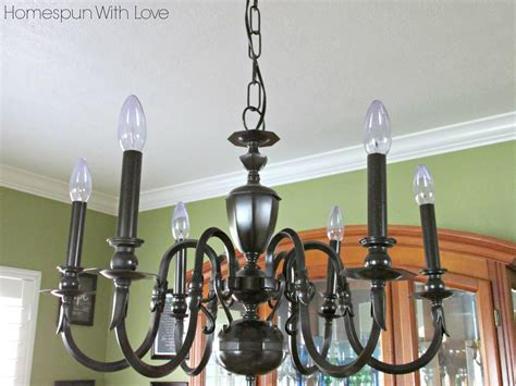 Brass Chandelier Makeover Homespun With Diy Brass Chandelier Makeover