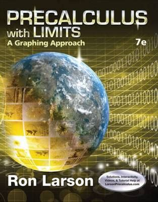 precalculus with limits: a graphing approach book by ron