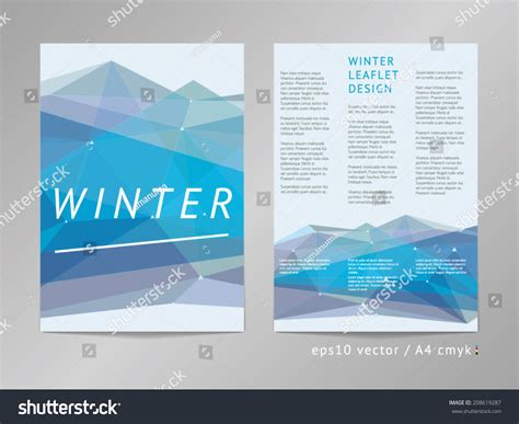 three column double sided vector leaflet brochure