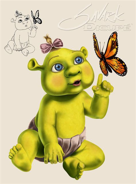 free shrek painting shrek baby by savarkdicupe on deviantart