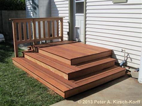 simple wood deck 25 best ideas about wooden steps on patio