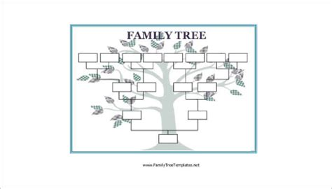 blank family tree template for 18 family tree templates free ppt excel word formats