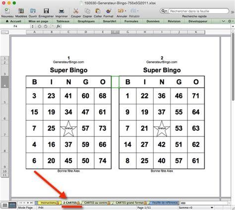 Grille De Bingo by Comment G 233 N 233 Rer Des Cartes Bingo G 233 N 233 Rateur Bingo