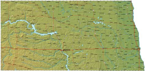 printable road map of north dakota north dakota map north dakota usa mappery