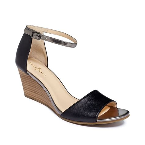 cole haan sandals womens cole haan womens rosalin wedge sandals in brown lyst
