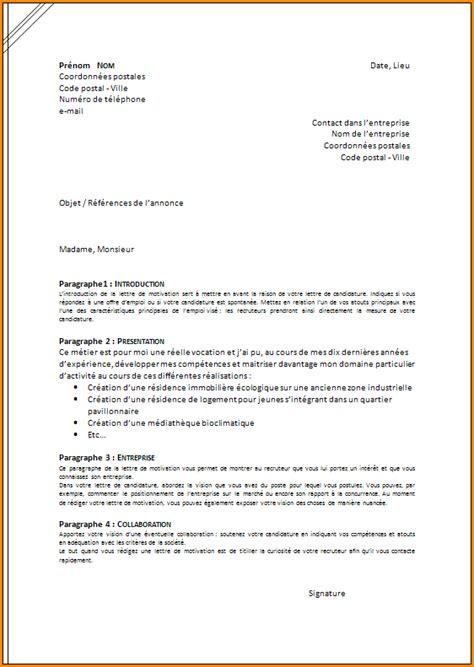 Règles De Présentation Lettre De Motivation 10 Presentation D Une Lettre De Motivation Exemple Lettres