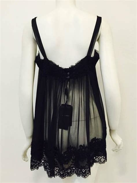 Velvet Lace Trim Babydoll Black new dolce and gabbana black silk blend baby doll negligee