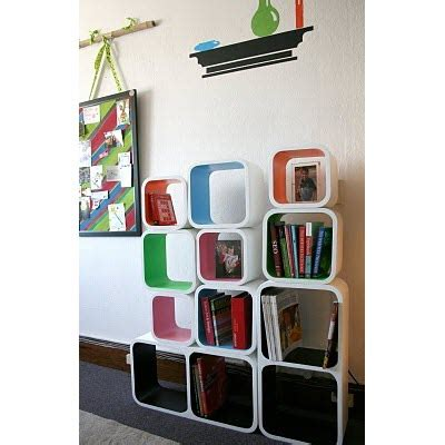 the multi colored cosmos wall cubes modern shelving solution