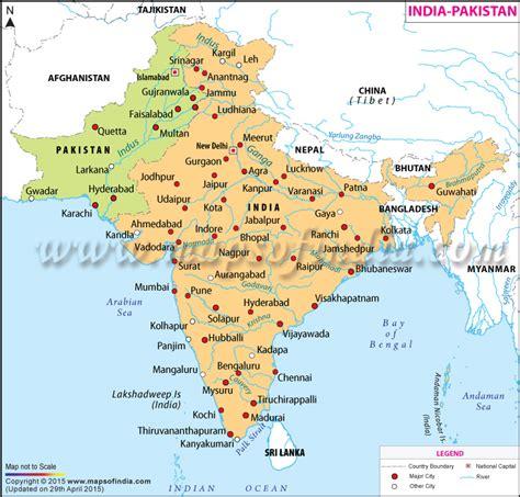 india pak india pakistan map map of india and pakistan