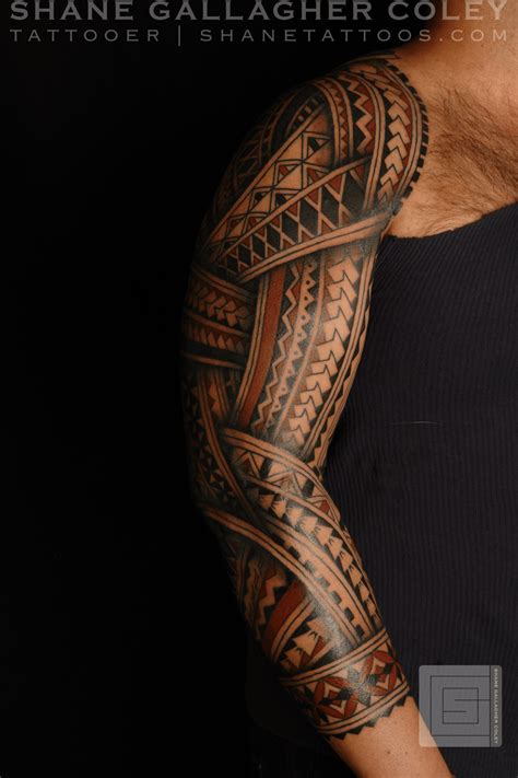 shane tattoo shane tattoos polynesian sleeve
