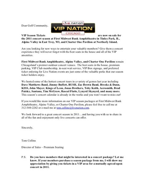 Customer Prospecting Letter Sales Prospecting Letter To Golf Clubs 2011
