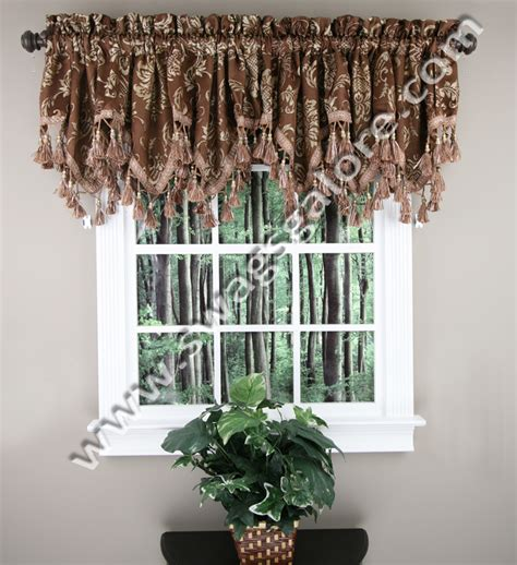 brown swag curtains brown valance curtains delectably yours pair of laredo
