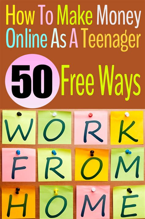 Make Money Online Teenager Ways - 50 ways to make money online as a teenager free and fast