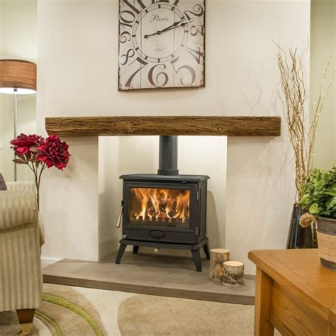 Wooden Beam Fireplace by Newman Fireplaces Oak Effect Beams Bideford