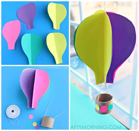 How To Make A Paper Balloon Fly - spinning 3d air balloon craft for to make