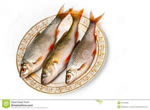 fresh fish on plate royalty free stock photos image 18781868