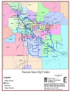 zip codes tucson arizona map