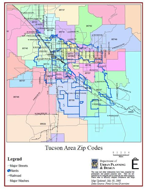 arizona zip code map zip codes tucson arizona map