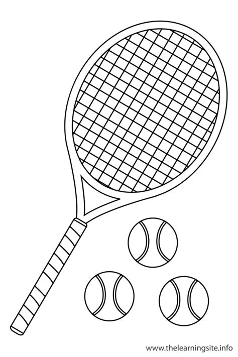 Tennis Coloring Pages Tennis Coloring Pages