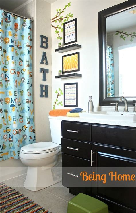 ideas for bathroom decorating themes hometalk kids bathroom makeover