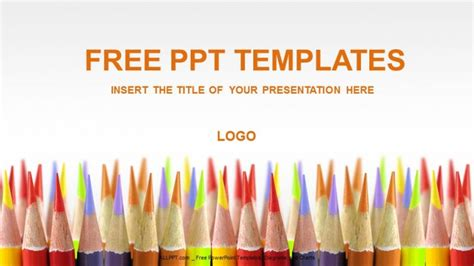 educational powerpoint templates colored pencils education powerpoint templates