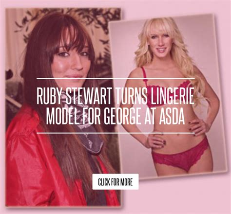 Ruby Stewart Turns Model For George At Asda ruby stewart turns model for george at asda fashion