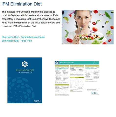 Detox Food Plan Ifm by Institute For Functional Medicine Food Plan Foodfash Co