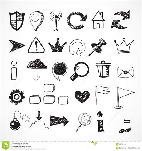 design icon in sketch sketch of web design icons stock vector image of draw
