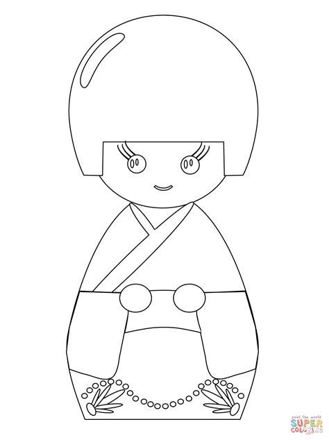 coloring pages kokeshi dolls kokeshi doll coloring page free printable coloring pages