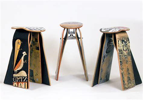 skateboard furniture deckstools recycled skateboard furniture