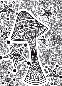 trippy coloring pages printable star shroom razorblade butterfly coloring pages