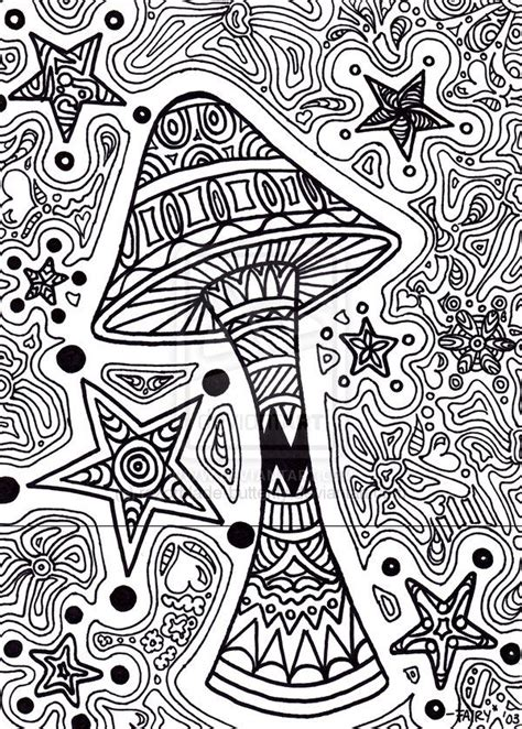 Trippy Coloring Pages Printable Star Shroom By Trippy Printable Coloring Pages