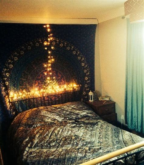 Fairy Lights In Bedroom bohemian bedroom with fairy lights home amp decor