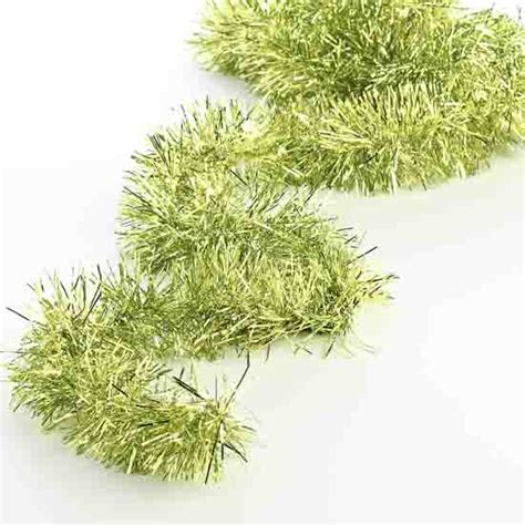 metallic lime green tinsel garland christmas garlands