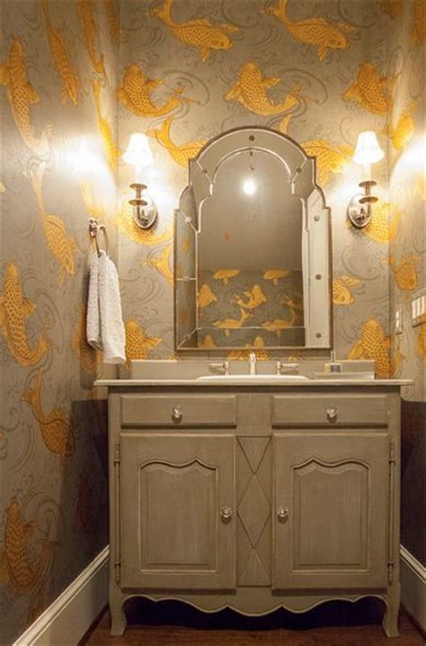 fish wallpaper for bathroom for powder room lucy and company bathrooms osborne