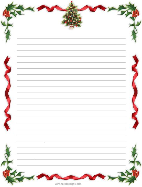 printable lined thank you paper 9 best images of printable christmas thank you stationery