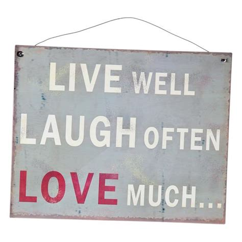 live laugh signs live well laugh often much metal sign