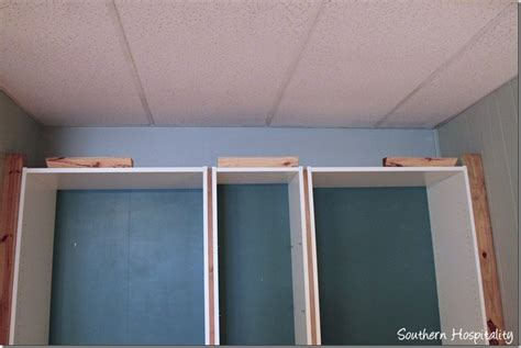 add molding shelving to the top of your kitchen cabinets part 2 building in ikea billy bookcases with molding
