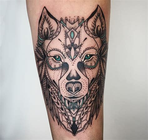 wolf mandala tattoo tattoo collections