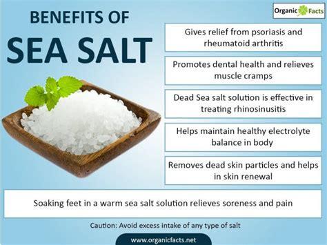 sea salt l benefits 19 amazing benefits of sea salt organic facts