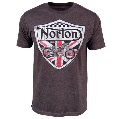 Tshirt Norton Motorcycle mens norton motorcycles uk shield t shirt charcoal new